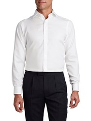 T.M.Lewin Men's Tm Lewin Non Iron Fitted White Oxford Double Cuff Shirt White