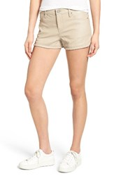 Blank Nyc Women's Blanknyc Lace Up Faux Leather Shorts Shake N Bake