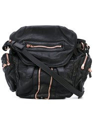 Alexander Wang Marti Backpack Women Lamb Skin One Size Black