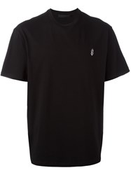 Alexander Wang Dollar Sign Embroidered T Shirt Black