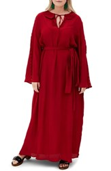 Elvi Plus Size The Asenath Maxi Dress Red