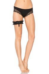 Only Hearts Club Forget Me Not Garter Black