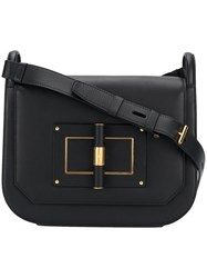 Tom Ford Twist Lock Shoulder Bag Black