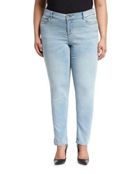 Vince Camuto Five Pocket Skinny Jeans Blue