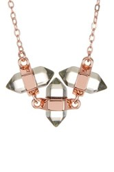 Rebecca Minkoff 3 Stone Necklace Metallic
