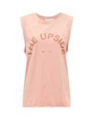 The Upside Muscle Organic Cotton Jersey Tank Top Pink