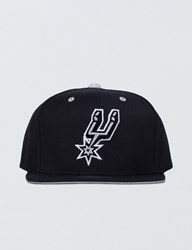 Mitchell And Ness San Antonio Spurs Solid Velour Logo Snapback