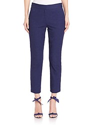 Diane Von Furstenberg Gennifer Two Stretch Cotton Capri Pants Midnight