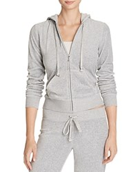 Juicy Couture Black Label Robertson Velour Zip Hoodie 100 Bloomingdale's Exclusive Silver Lining