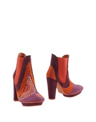 Desigual Ankle Boots Red