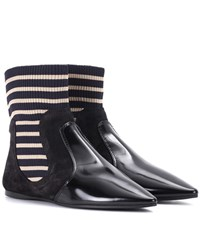 Acne Studios Amalee Suede Ankle Boots Black