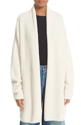 Vince Women's Texture Wool Blend Shawl Cardigan Off White