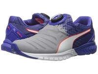 Puma Ignite Dual Disc Quarry Royal Blue White Women's Running Shoes Gray