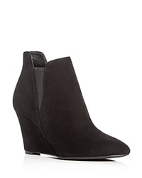 Via Spiga Kenzie Wedge Booties Black
