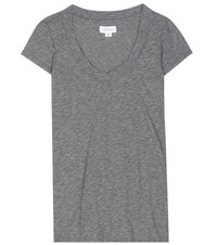 Velvet Christie V Neck T Shirt Grey