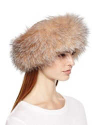 Surell Fox Fur Headband Crystal