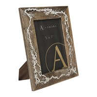 Amara Cracked Wooden Photo Frame 5X7