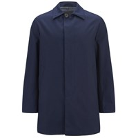 Knutsford Men's 'Made In England' Single Breasted Raincoat Navy