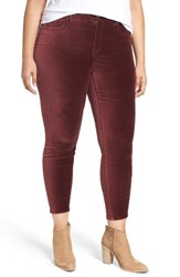 Melissa Mccarthy Seven7 Plus Size Women's Pencil Leg Velveteen Pants