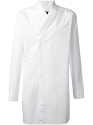 D.Gnak Wrap Shirt White