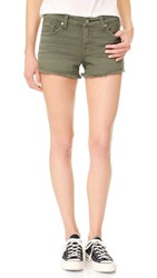 7 For All Mankind Cutoff Shorts Olive