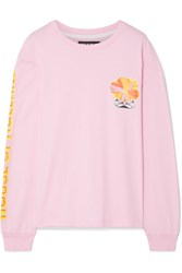 House Of Holland Printed Cotton Jersey Top Baby Pink