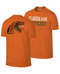 Retro Brand Florida A And M Rattlers Team Stacked Dual Blend T Shirt Orange Heather