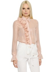 Ingie Ruffled Lurex And Silk Georgette Shirt
