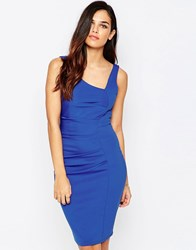 Jessica Wright Verity Asymmetric Pencil Dress Blue