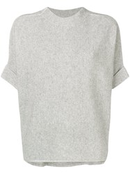 Max And Moi Crew Neck Lurex Pullover Grey