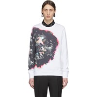 Alexander Mcqueen White And Multicolor Painted Sweatshirt