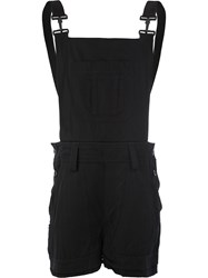 Di Liborio Dungaree Loose Fit Shorts Black