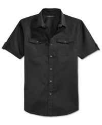 Sean John Men's Big And Tall Solid Short Sleeve Shirt
