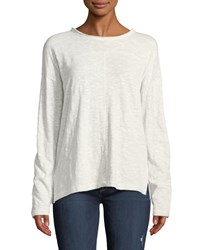 Knot Sisters Newport Lightweight Long Sleeve Tee White