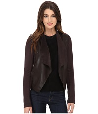 Kut From The Kloth Faux Leather Drape Jacket Brown Women's Jacket