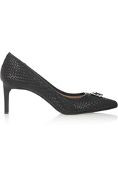 Dkny Eviey Woven Leather Pumps