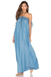 Capulet Tube Maxi Dress Washed Denim