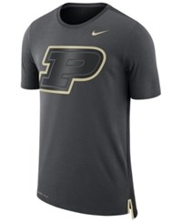 Nike Men's Purdue Boilermakers Meshback Travel T Shirt Anthracite