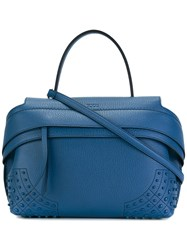 Tod's Studded Tote Blue
