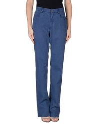 Blue Les Copains Denim Denim Trousers Women Dark Blue
