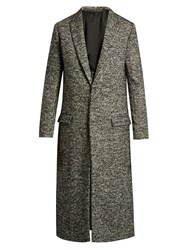 Haider Ackermann Single Breasted Wool And Alpaca Blend Coat Black Multi