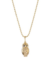 Sydney Evan 14K Gold Diamond Owl Pendant Necklace
