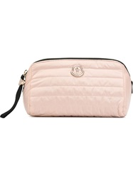 Moncler Quilted Makeup Bag Pink And Purple