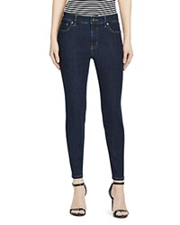 Ralph Lauren High Rise Skinny Crop Jeans In Rinse