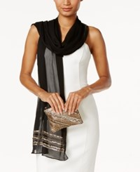 Vince Camuto Embellished Evening Wrap And Clutch Black Gold