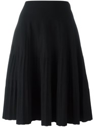 Salvatore Ferragamo Pleated Skirt Black