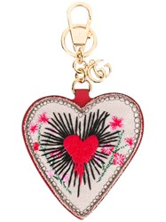 Gucci Heart Keyring Brown