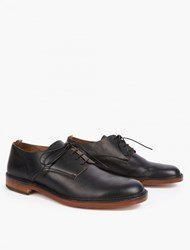 Officine Creative Brown Leather Oxford Shoes Black