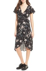 Socialite Women's Floral Print Wrap Dress