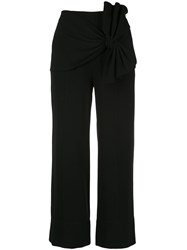 Cinq A Sept Connie Knot Detail Trousers Black